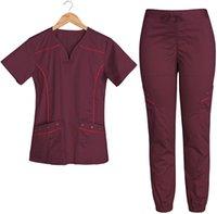 Мужские штаны здравоохранения медсестра скрабы в пользовательском синем цвете для женщин Установить медицинские костюмы