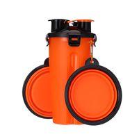 휴대용 마시는 병 및 물병 접는 애완 동물을위한 두 개의 음식 컵 그릇 접는 개 그릇 야외 동반 컵 seaway gwf10495