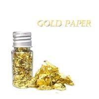 10ml essbare gold blatt mask dekoration authentische goldenefolie kochen kuchen und schokolade dekoration gesundheit spa