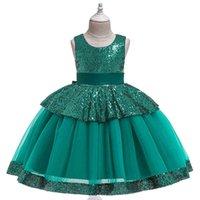 Платье для девочек детская одежда блестение кружева принцесса TUTU подиума рождественский костюм 2-10 лет детская одежда 210522