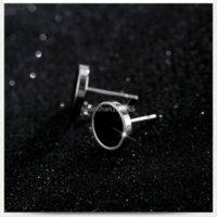 Hip Hoop Stud Earrings Black Stainless Steel Ear Rings for Women Men Fashion Jewelry Will and Sandy