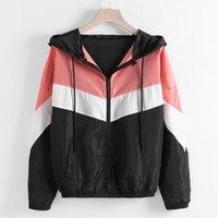 Jaycosin veste pour femmes coupe-vent manches longues femmes veste fitness dames patchwork mince manteau de sport vêtements pour femmes 19Dec16 j7yx #