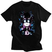 Men's T-Shirts Funny Mob Psycho 100 Tshirt Short Sleeved Cotton T-shirt Leisure Anime Manga Shigeo Kageyama Tee Shirts Apparel