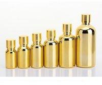 5ml 10ml 15ml 20ml 30ml gold Glass Bottle Vials Essential Oil-Bottle with screw cap Perfume bottles SN2887