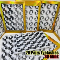 20 Pairs Mixed Style 10- 25mm 3D Faux Mink False Eyelash Hand...