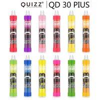 2 Renkler Vapmod Quizz QD30 Artı Tek Kullanımlık E Sigara Vape Kalem Kiti XL Akış 4000Puffs 12 ml Kapasiteli Pil Mesh Bobin Buharlaştırıcı
