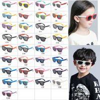 Силиконовые детские поляризационные солнцезащитные очки Square Boys и Girls'lasses UV400 Brand Design Soft Safety Kids Beach Goggles