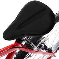 Saddles de bicicleta exercício assento gel almofada capa peças ergonômicas design para grande grande bicicleta saddle pad ciclismo montar porção de acessórios