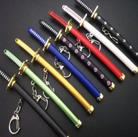 Männer Mode Anime Katana Anhänger Keychain Domineering Edelstahlmesser Keychain Herren Design Geburtstagsgeschenk mit Verpackungsbox