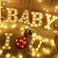 Party Decoration 3D LED Night Lamp 26 Letter 0-9 Digital Marquee Sign Alphabet Light Wall Hanging Indoor Decor Wedding