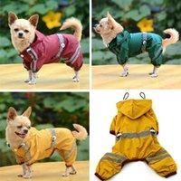 Vêtements pour animaux de chien vêtements imperméables imperméable imperméable imperméable pluie veste pluie poncho avec bande réfléchissante chiot extérieur animaux manteau de peluche de pluie