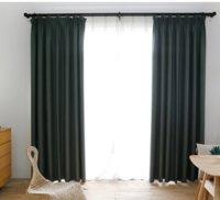 70% -85% sombreamento feito sob encomenda feita isolante estilo moderno cor sólida cortina de blackout para a janela da sala de estar ZHL4805