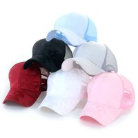 Camuflaje patrón de mujer cola de caballo gorra de béisbol de color sólido de color transpirable sombrero trasero de back apertura de moda sombrero de red