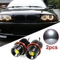 2pcs 160w Car 16-leds Angel Eye Ring Marker Light Bulbs White 7000k For Bmw E39 E60 E61 E87 E53 E63 E65 High Quality Lights Bulb