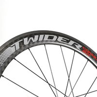 عجلات الدراجة 60 ملليمتر 700C مختومة تحمل الطريق دراجة سباق فائقة ضوء ألياف الكربون حافة عجلة العجلات العجل