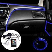 RGB Remote Control App Control Car Interior Light 6 Meter Ambient Lamp Car-styling Fiber Optic Atmosphere Lamps