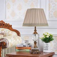 Настольные лампы Orey Modern Lamp Crystal LED стойка легкой ткани прицела домой роскошный декоративный для фойе спальня офис EL