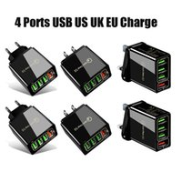최고 품질 빠른 충전 3.0 4.0 USB 충전기 3.1A 4 포트 어댑터 용 빠른 벽 휴대 전화 QC 충전기 DHL