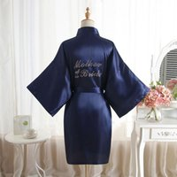 Mother of the Bride Robe on the Back Wedding Robe Silk Satin Kimono Robe Fashion Night Short Dressing Gown For Wome