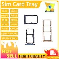 100 stücke SIM-Karten-Tablett-Halter-Slot für Xiaomi Mi 11 9 8S MI 10T MI 10 PRO POCO F2 Redmi-Anmerkung 10 Anmerkung 8 K20 K30 Redmi 8 S2 GO SIM-Halter-Slot-Tablett-Adapter