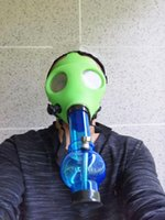Gas Mask with Acrylic Smoking Bong Silicone Pipe Tabacco Shisha smoke pipes water pipe smoke accessory hookah for smoking pipe loveyouglass shop