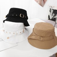 Cross-border individuality belt buckle fisherman hat female fashion student couple Sun basin cap tide good sale