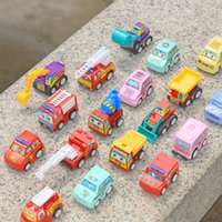 6pcs set Children Mini Pull Back Car Toy Construction Vehicle Fire Truck Model Set Boys Birthday Holiday Gift 936 X2