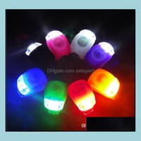 Lights Aessories Sports & Outdoorsbicycle Cycling Sile Bike Head Front Rear Wheel Led Flash Bicycle Light Lamp 8 Colors Include The Battery