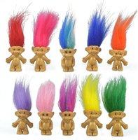 Коллекция игрушек Novelt Mini Troll, PVC Vintage Trolls Lucky Dock Diage Figure Take Toppers Chromatic Preactable Cute Minal Guys Collections