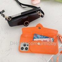 مصمم حالات الهاتف crossbody ل iphone 12 11 برو xs ماكس xr 8 7 زائد الأزياء حامل بطاقة جلدية غطاء واقية
