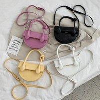 HBP Messenger Handbag Crossbody Bags Clutches Stone Luxury Half Women Moon Bag Female Ladys Purse Designer Pattern Small Bolsos Genxa