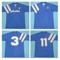 Retro Real Zaragoza Soccer Jersey 1992 1993 Brehme # 3 de Jogo Rarlssima Vintage Camiseta de Futbol 92 93 Camisa de Futebol Clássico Azul Espanha