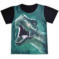 1-6Y Kids Boys Dinosaur Print Baby Cotton Tops Summer Clothing Toddler Boy Fashion T-shirt Cute Children Play Clothes