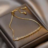 Link, Chain Korea Original Design CZ Crystal Snake Bracelet For Woman 2021 Fashion Gold Cuff Women Luxury Jewelry Gift