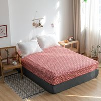 Sheets & Sets Modern Floral Bed Sheet High Quality Pure Cotton Elastic Cover Mattress Protector Soft Skin-friendly Fashion