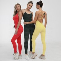 Seamless Yoga Set suit lingerie body training beauty back ballet dance continuous service Gym Outfits Fitness Wear Women Clothes 345613