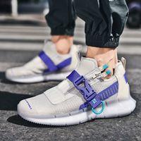 Jinbaoke شبكة الهواء الاحذية للرجال حذاء رياضة تنفس رياضة ألعاب القوى الرياضة الرجال الركض المشي الأحذية السوداء