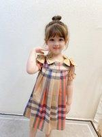 الفاخرة طفلة الأميرة اللباس الاطفال الشبكة مزدوجة القوس الصيف قصيرة الأكمام الاطفال عارضة مصمم ارتداء