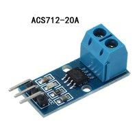 유량 센서 전류 센서 모듈 모드 ACS712 20A 핀 5V 전력 표시기 전자 PCB 보드 DIY 홀 효과 모델
