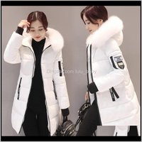 Trench Outerwear & Clothing Apparel Drop Delivery 2021 Womens Winter Coats Womans Long Cotton Casual Fur Hooded Jackets Warm Parkas Female Ov