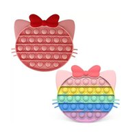 Fidget Toys Rainbow Cat Anti-stress Antistres Adult Bubble Reliever Children Kid Gift Kawaii Figet Toy
