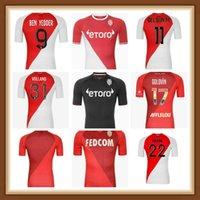 2021 2022 Qualidade superior como Monaco Ben Idder Futebol Jerseys Jovets Golovin 21 22 Maillot de Foot Flocage Jorge Men Kids Football Shirt