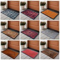 Cushion Decorative Pillow Door Mat Floor Feet Carpet Thick Rubber Waterproof Non Slip Easy Clean DoorMats Indoor Outdoor Entrance Home El L8