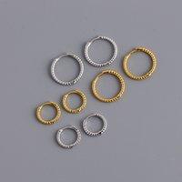 Genuine 925 Sterling Silver Earring Hoop Stud Minimalist Earrings white gold plated Special Fancy Jewelry for Lady
