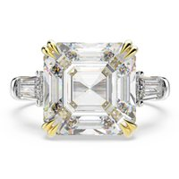 OEVAS 100% 925 Sterling Silver Created Moissanite Citrine Diamonds Gemstone Wedding Engagement Ring Fine Jewelry Gift Wholesale