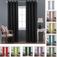 غرفة سواد الستار جروميت ستائر معزول الحرارية لغرفة النوم وغرف المعيشة نافذة المنزل 18 ألوان HH21-260