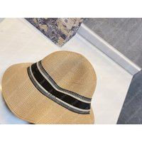 Chapéu de praia Bucket chapéus Sun verão Mulheres Rafficia Mens Luxurys Designers Caps Boné Boné Boneto Beach-Hat Sombrero Firmati Casual 2104141L