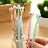 0.5 ملليمتر لطيف kawaii البلاستيك الحبر هلام القلم الكرتون القط الأقلام للمدرسة الكتابة مكتب اللوازم الكورية القرطاسية