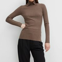 Spring Knitted Sweater Bottoming Shirt Women Wool Tops Long Sleeve Ladies Slim Knitwear Pullover Top Women's Sweaters