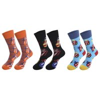 cartoon print creative fashion personality novelty socks for men and women winter and summer comfort cotton socks sto
